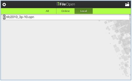 Figure 13: Open a previously downloaded OPN file