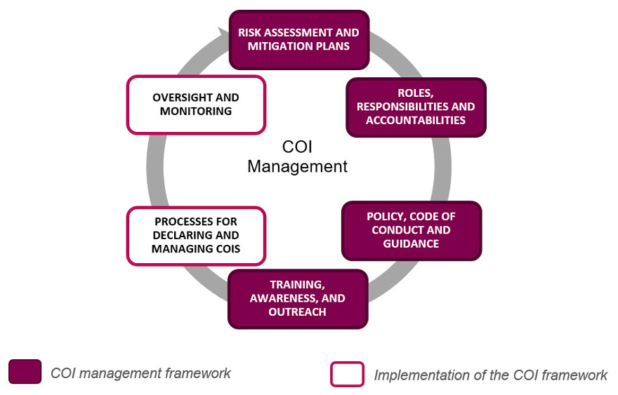 Figure 1: Key framework elements and activities included in the audit's scope