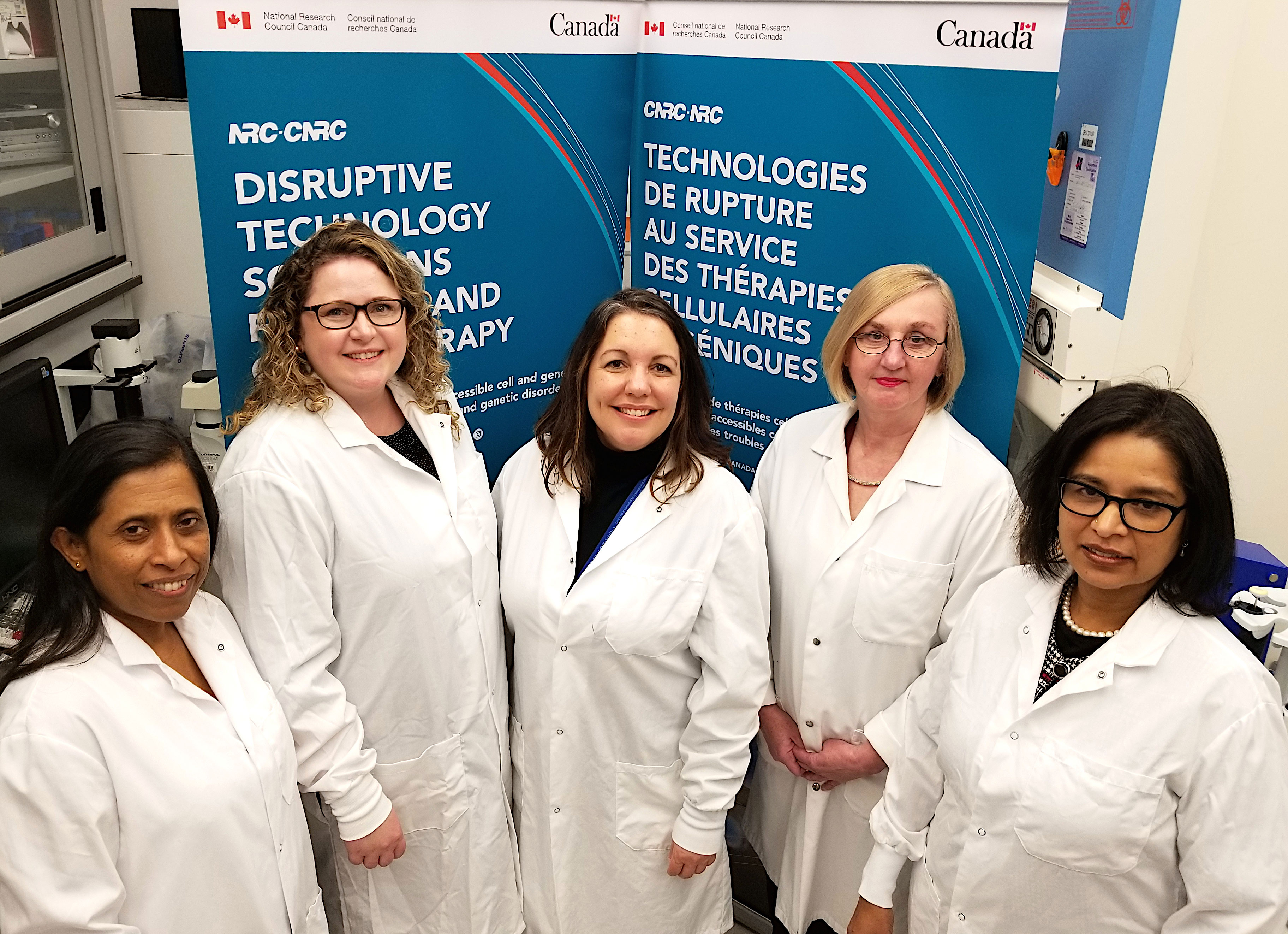 Researchers with the NRC's Human Health Therapeutics Research Centre