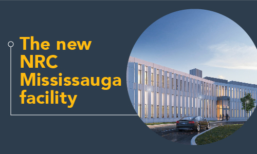The new NRC Mississauga facility - Infographic